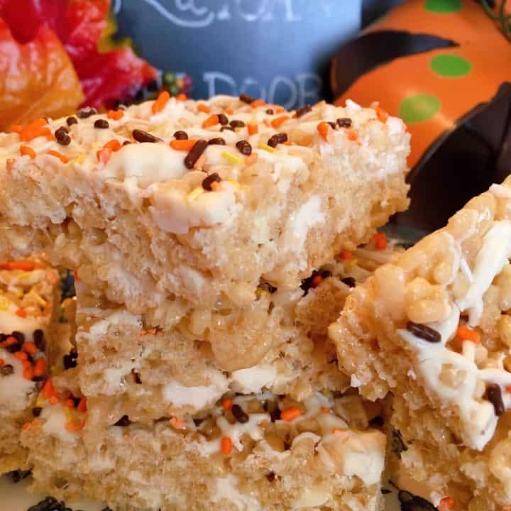 Maple White Chocolate Rice Krispie Treats