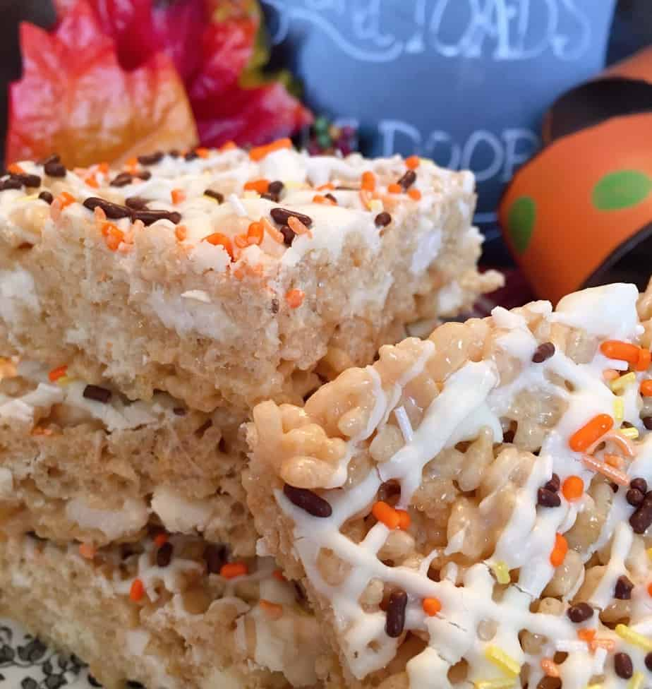 Maple White Chocolate Rice Krispie Treats
