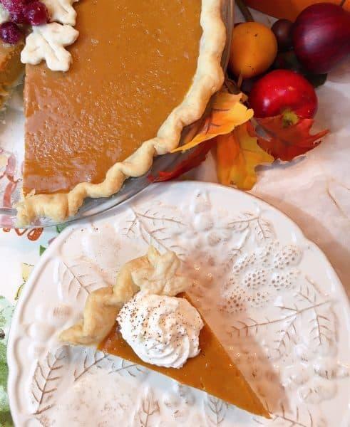 Pumpkin Pie Slice with pie