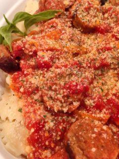Italian Sausage and Ravioli