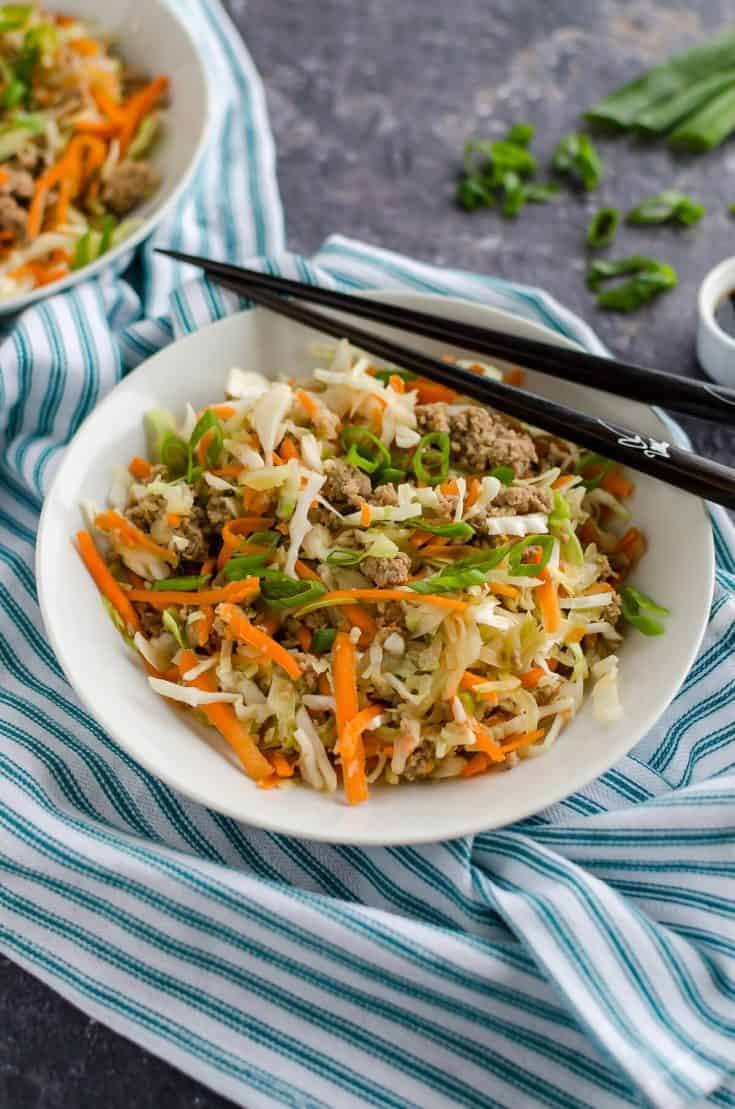 Egg Roll In A Bowl With Ground Turkey