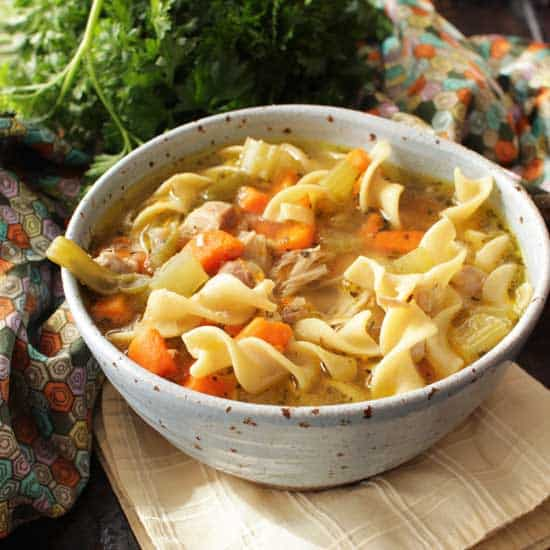 Instant Pot Chicken Noodle Soup For One