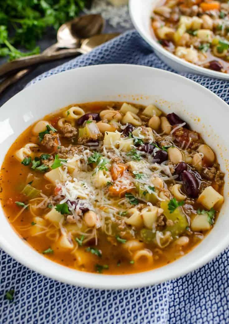 Easy Pasta Fagioli Soup {Better than Olive Garden!}