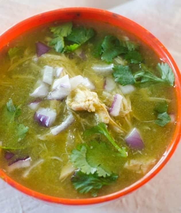 Instant Pot White Chicken Chili Verde Recipe