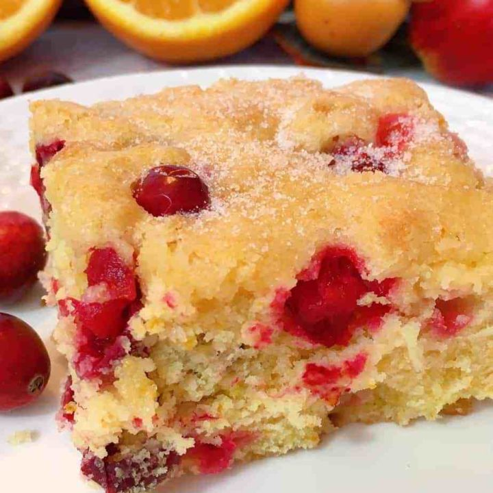 Cranberry Orange Buttermilk Coffee Cake