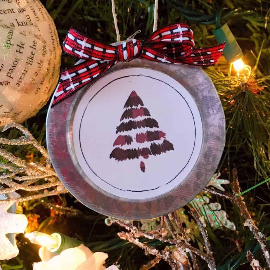 Gift Tag printable made into an ornament