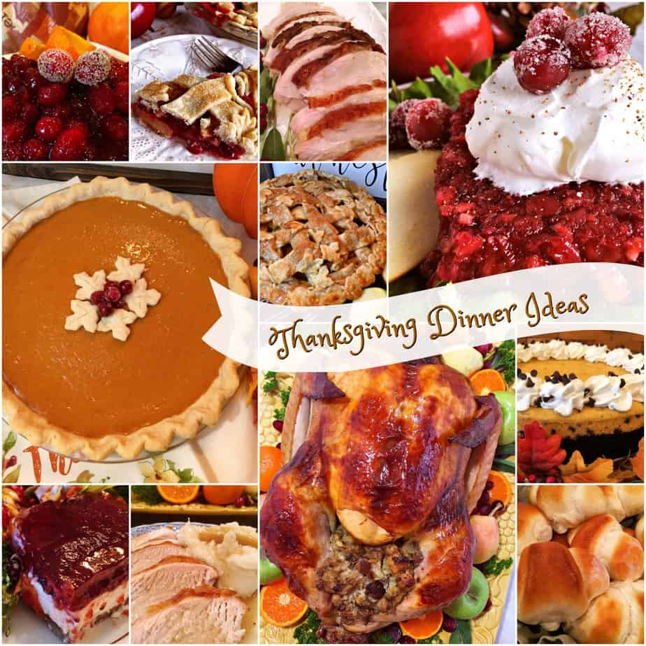 Collection of Thanksgiving dinner ideas and recipes photos
