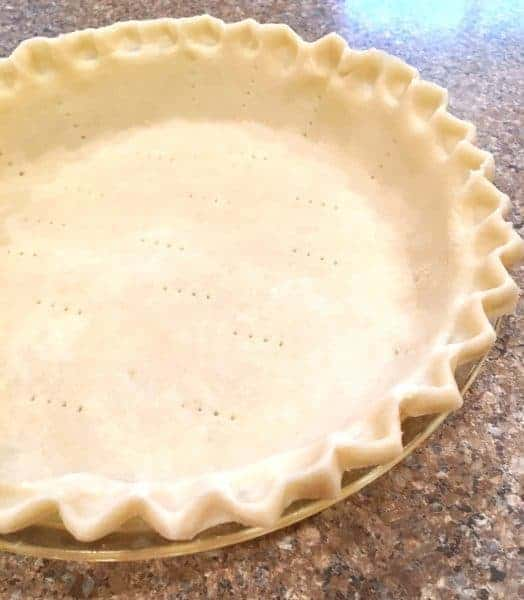 Fluted Pie Crust in pie plate