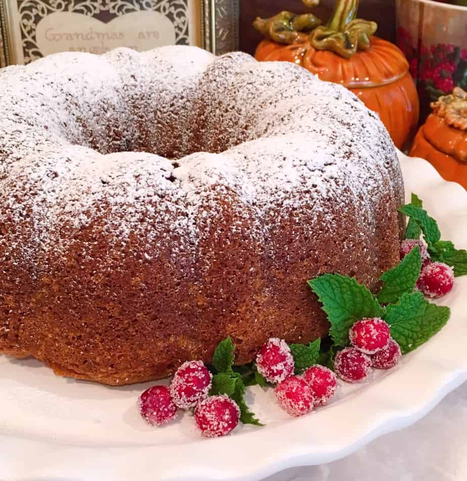 Holiday Pumpkin Cranberry Bundt Cake