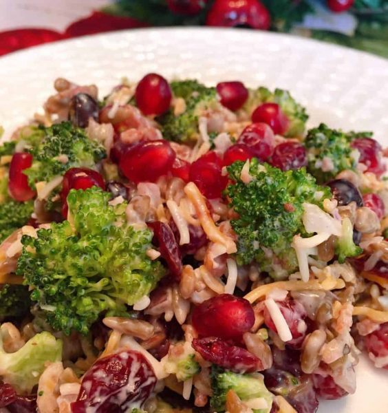 Broccoli, Cranberry, and Pomegranate Salad