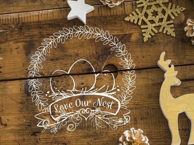 Love Our Nest SVG File
