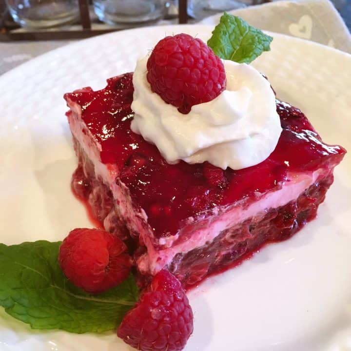 Raspberry Layered Jello Salad