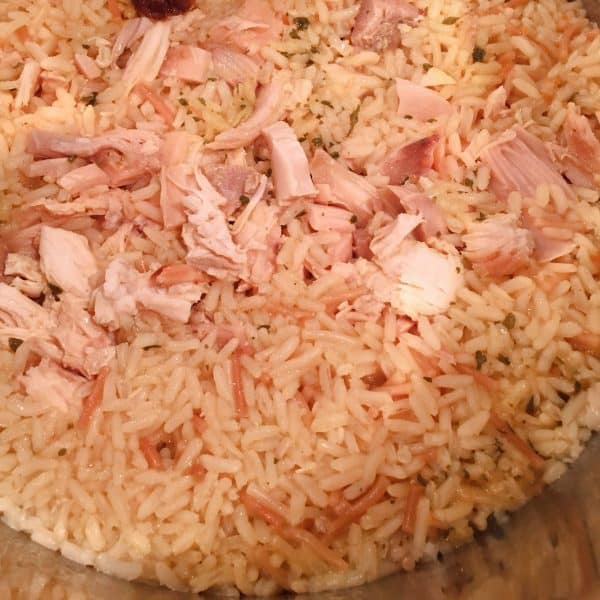 Cooked Instant Pot Chicken and Pasta Rice Casserole