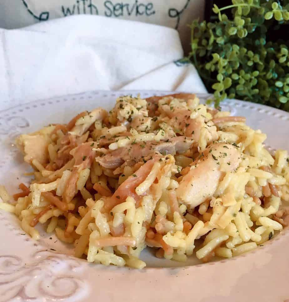 Instant Pot Chicken Rice and Pasta Casserole