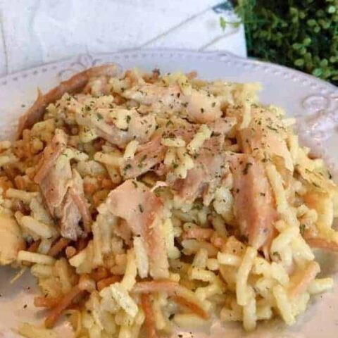 Chicken and Pasta Rice Instant Pot Casserole