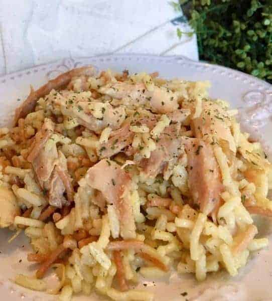 Serving of Chicken and Rice Casserole