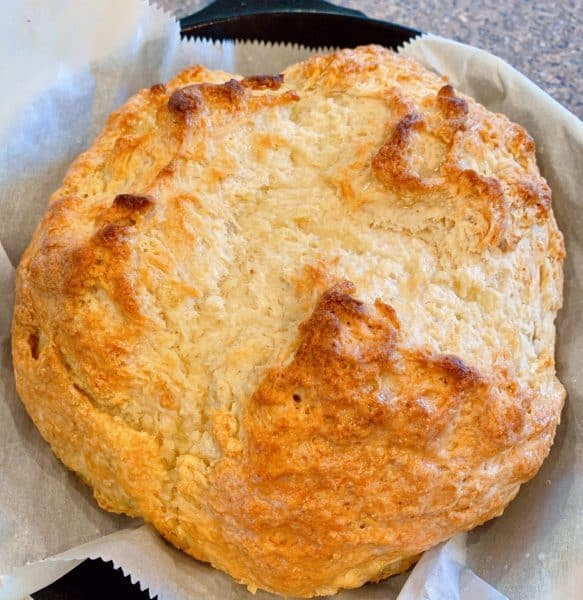 Traditional Irish Soda Bread baked