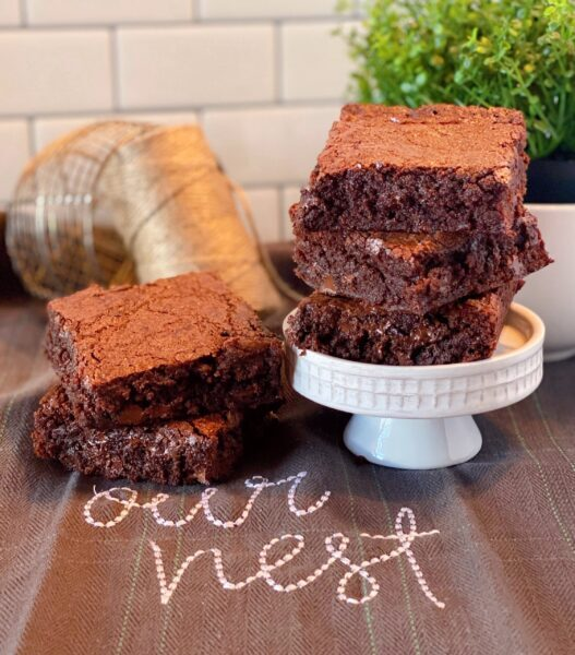 Best Homemade Brownies on a plate