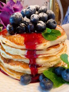 Homemade Blueberry Buttermilk Pancakes