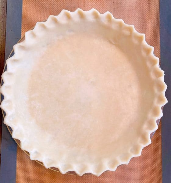 Deep Dish homemade pie crust in a pie dish ready for filling