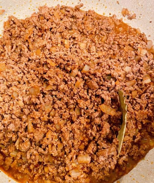 Ground Beef with onions browned