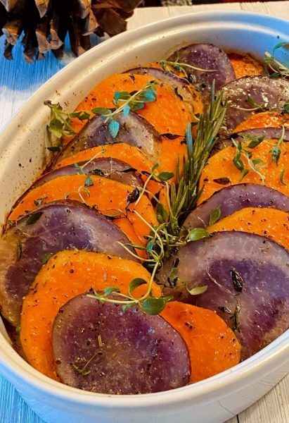 Sweet Potato Medley in baking dish
