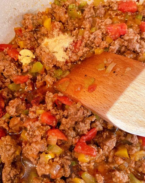 Mixing additions to Sloppy Joes