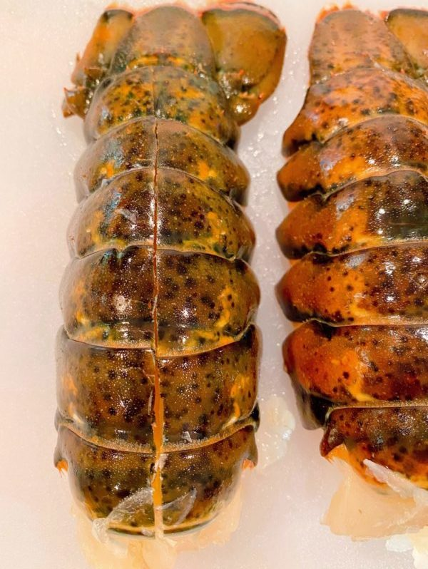 Lobster Tails Cut along the back of the shell to butterfly.