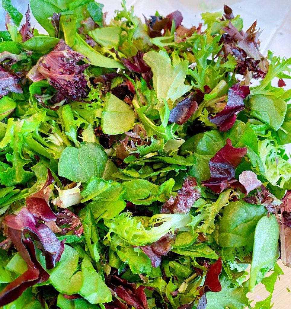 Chopped Salad Greens in a salad bowl.
