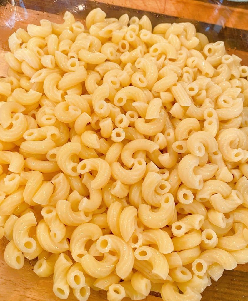 Cooked Pasta in a bowl.
