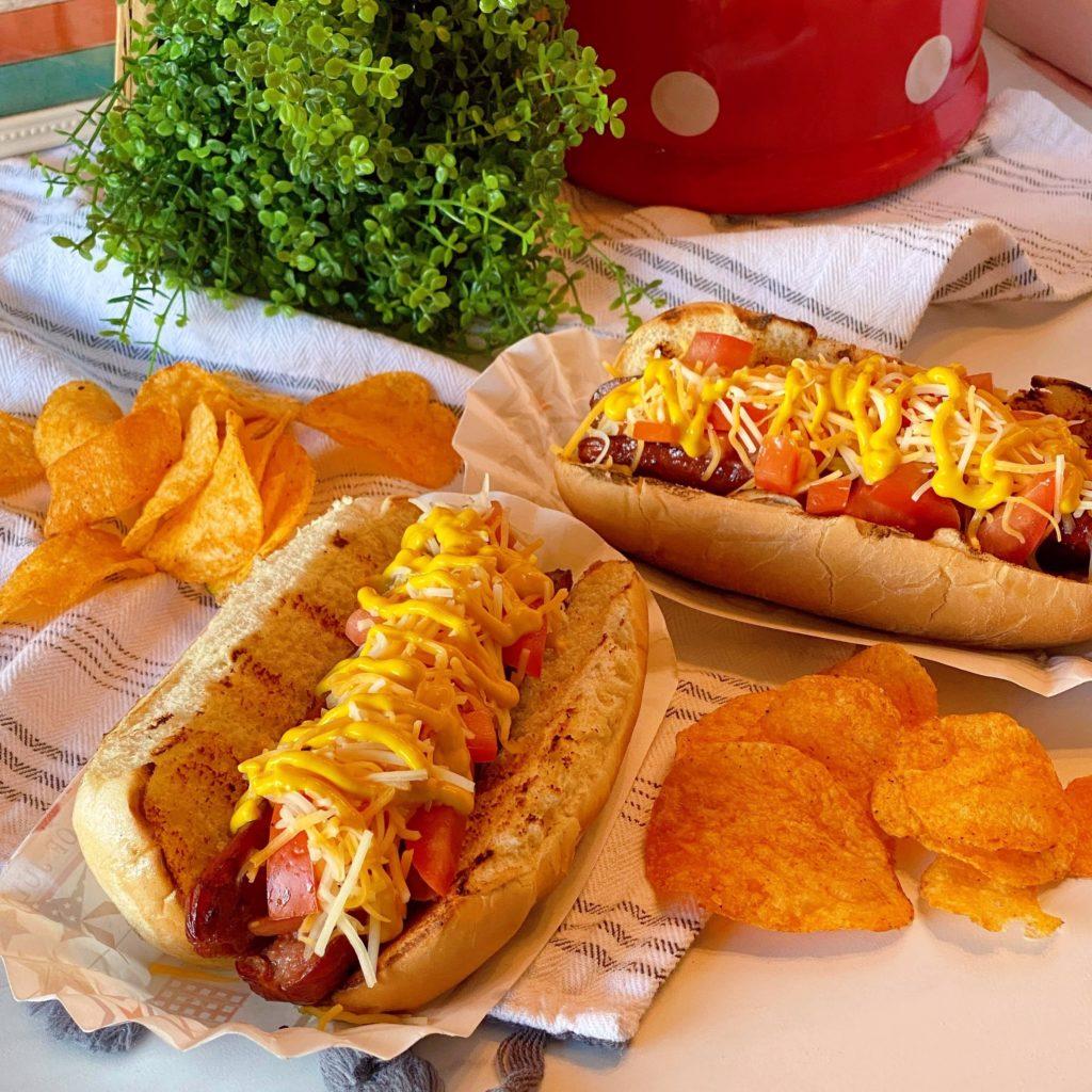 Al's Sunday Polish Dogs with Honey BBQ Chips