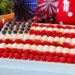 Red, White & Blue Poke Cake decorate like a flag.