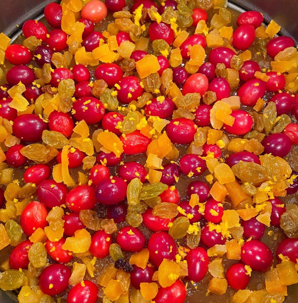Orange Zest on Fruit Topping