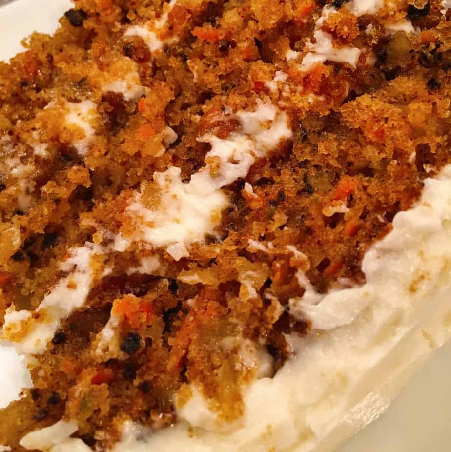 Carrot Cake With Pineapple Coconut And Walnuts