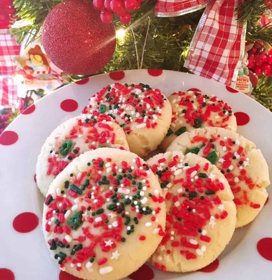 Christmas Sprinkle Sugar Cookies Norine S Nest