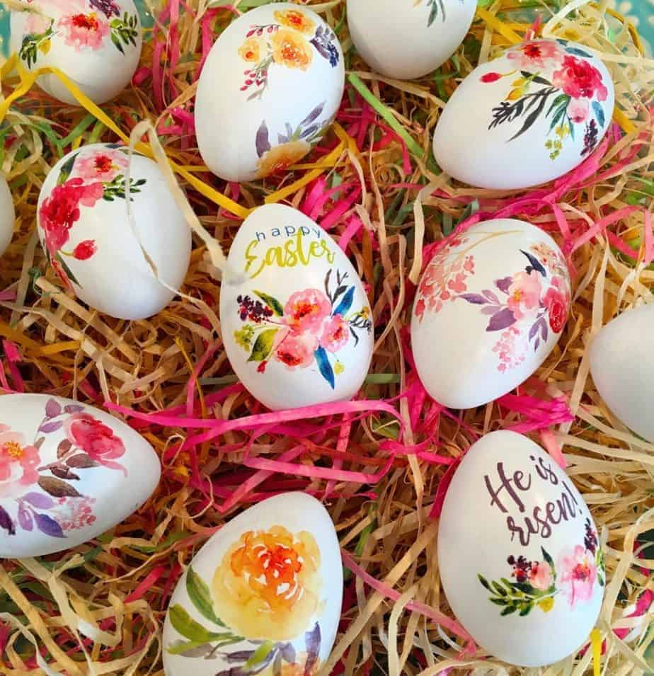 How To Make Tattoo Floral Easter Eggs Norine S Nest