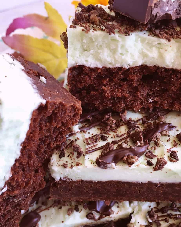 layered mint chocolate brownies norine s nest