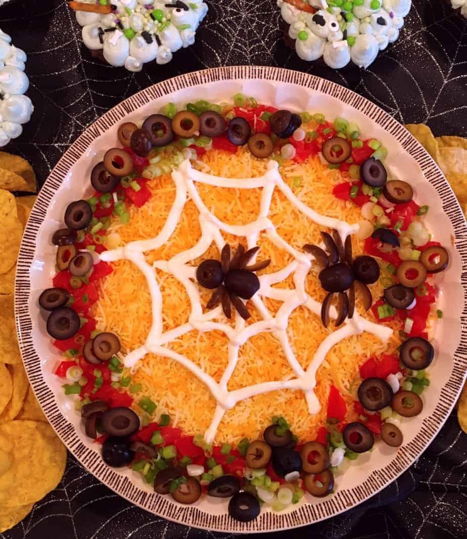 Spooky Halloween Seven Layer Taco Dip Norine S Nest